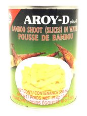 Bamboo shoot sliced 540g Aroy-D - Bamboo - 016229006525 - 1