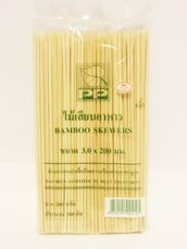 "Bamboo skewers 8""  20cm 200psc - Kitchen ware - 8850191924195 - 1"